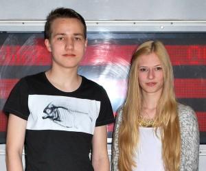Florian Tietz (links) und Lee-Ann Nimmich verbrachten ihren Zukunftstag bei der  Wolfenbütteler Baugesellschaft.
