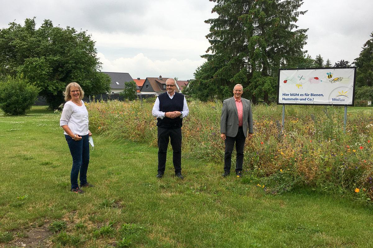 Blumenwiese 2021 Besuch Frank Oesterhelweg